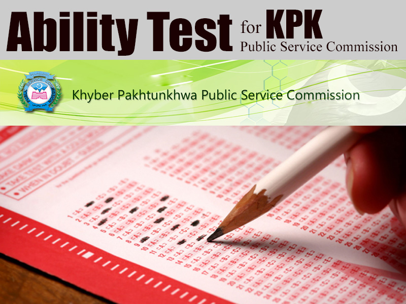 Ability Test for KP Public Service Commission