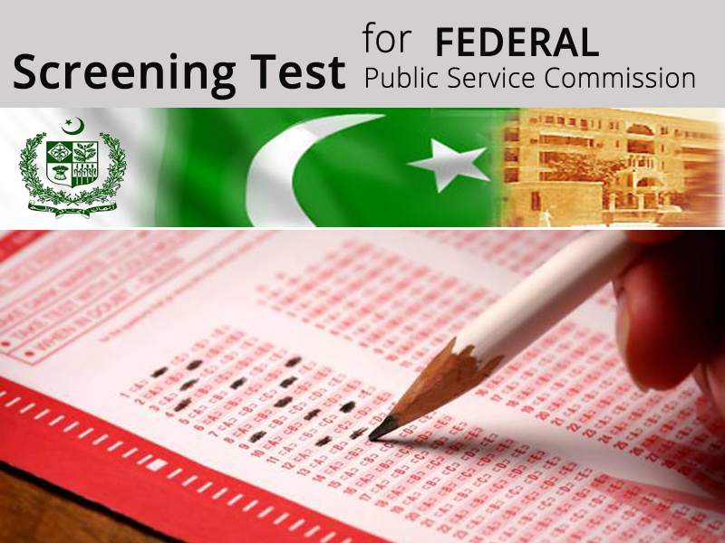 Screening Test for Federal Public Service Commission
