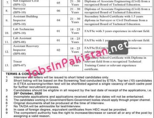 Jobs in Peshawar Development Authority PDA KPK