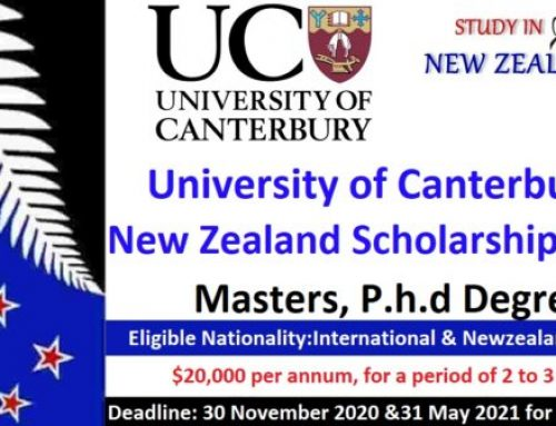 University of Canterbury Scholarships 2020 in New Zealand