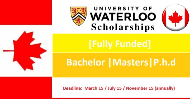 Fully Funded University of Waterloo Scholarships 2021 in Canada