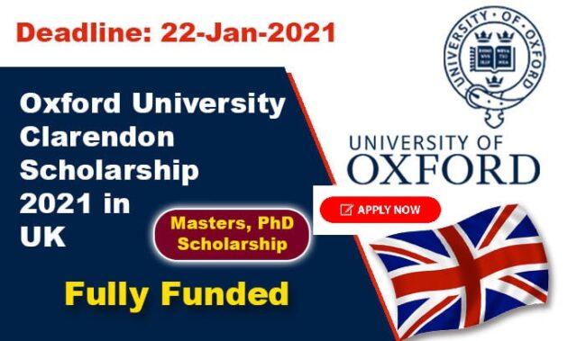 larendon Scholarships in UK 2021 650x379 1