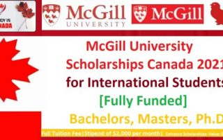 McGill University Scholarships Canada 2021 1