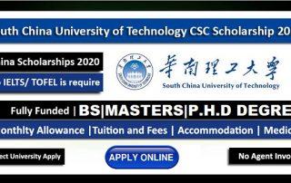 South China University Scholarships 2021